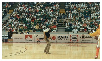 Performing at a Basketball game